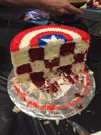 Captain America Cake Inside