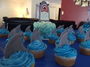 Shark Cake and Cupcakes - (Sim)fully Sweet