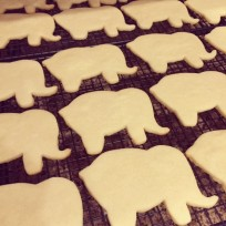 Naked Elephant Sugar Cookies
