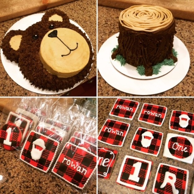 Plaid Icing For Lumberjack Cake