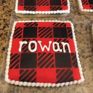 Buffalo Plaid Sugar Cookie