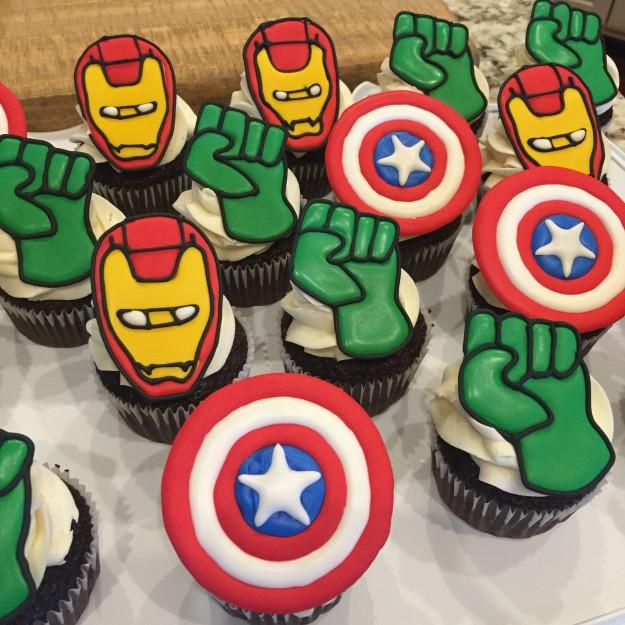 Avenger Cupcakes 2