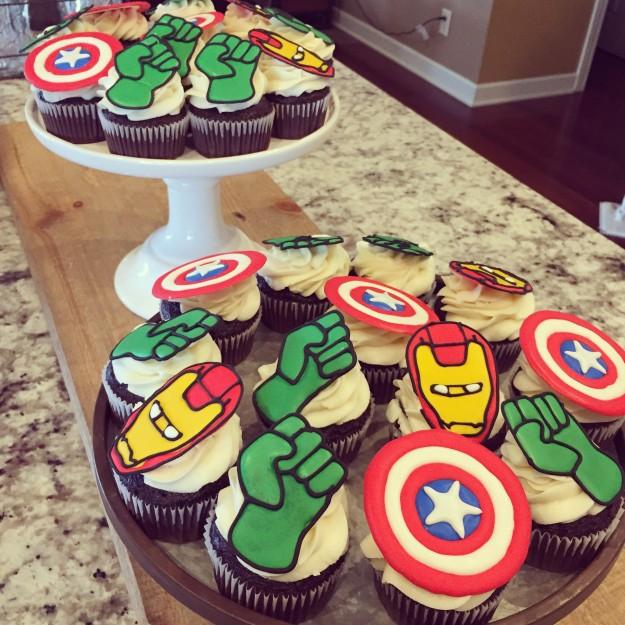 Avenger Cupcakes 3