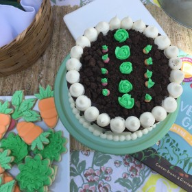 Garden Theme Cookies and Cake
